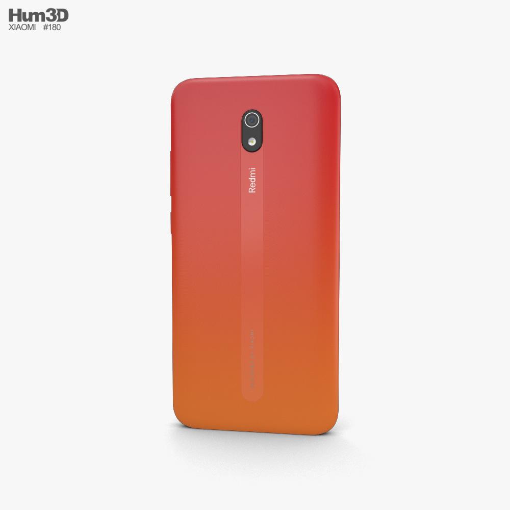 Xiaomi Redmi 8a Sunset Red 3d model