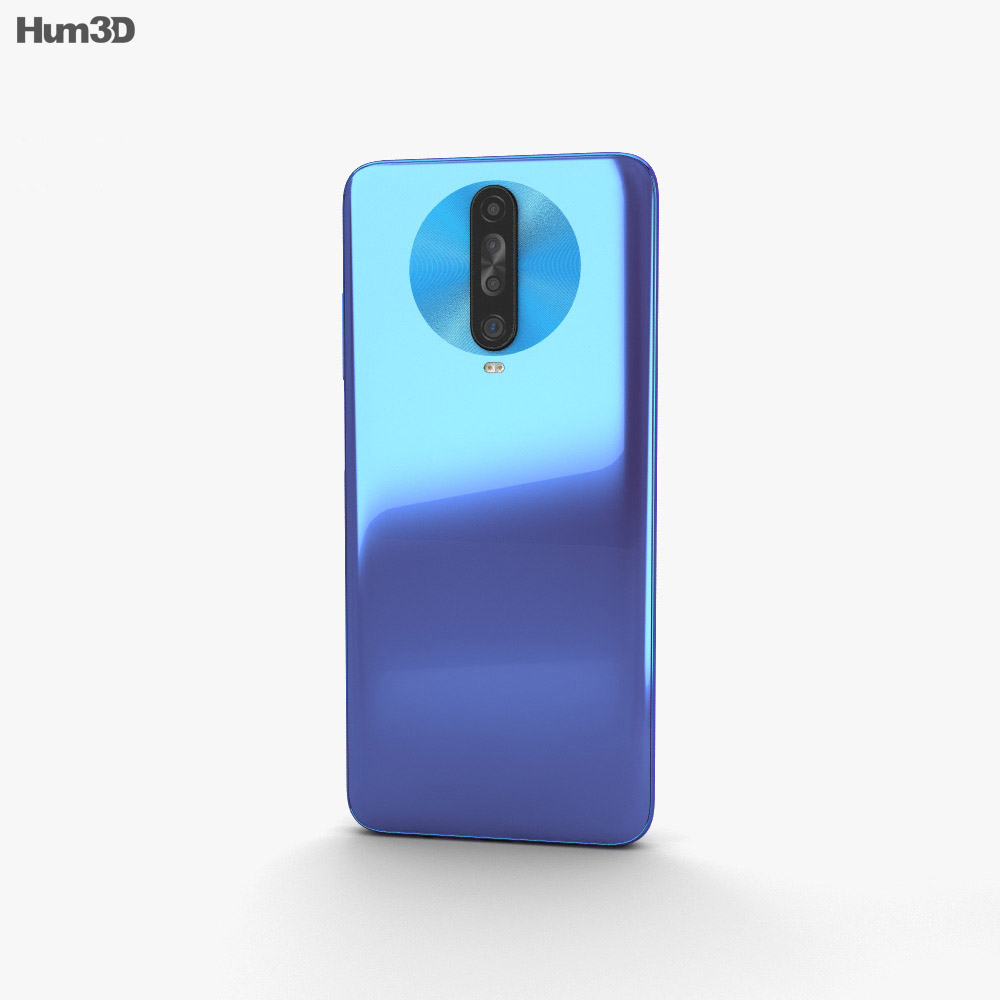 Xiaomi Redmi K30 Blue 3d model