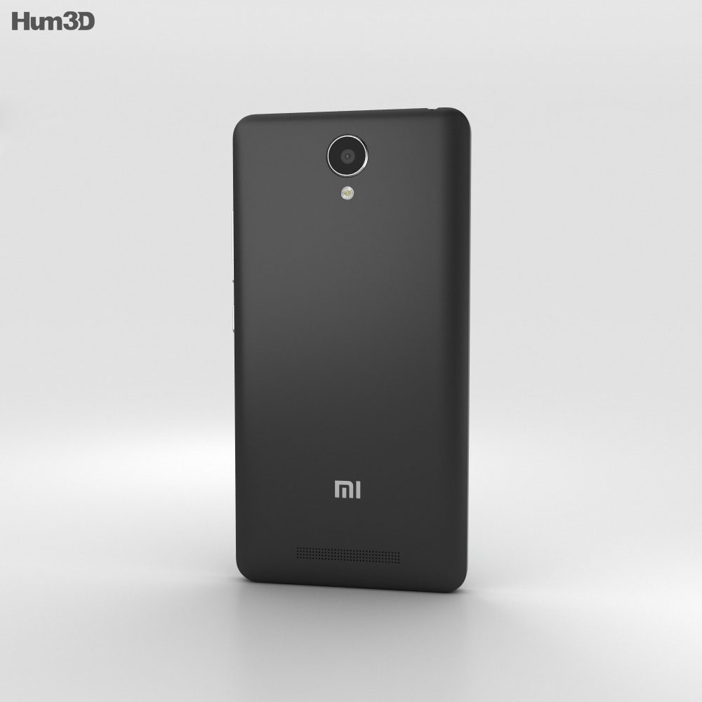 Xiaomi Redmi Note 2 Black 3d model