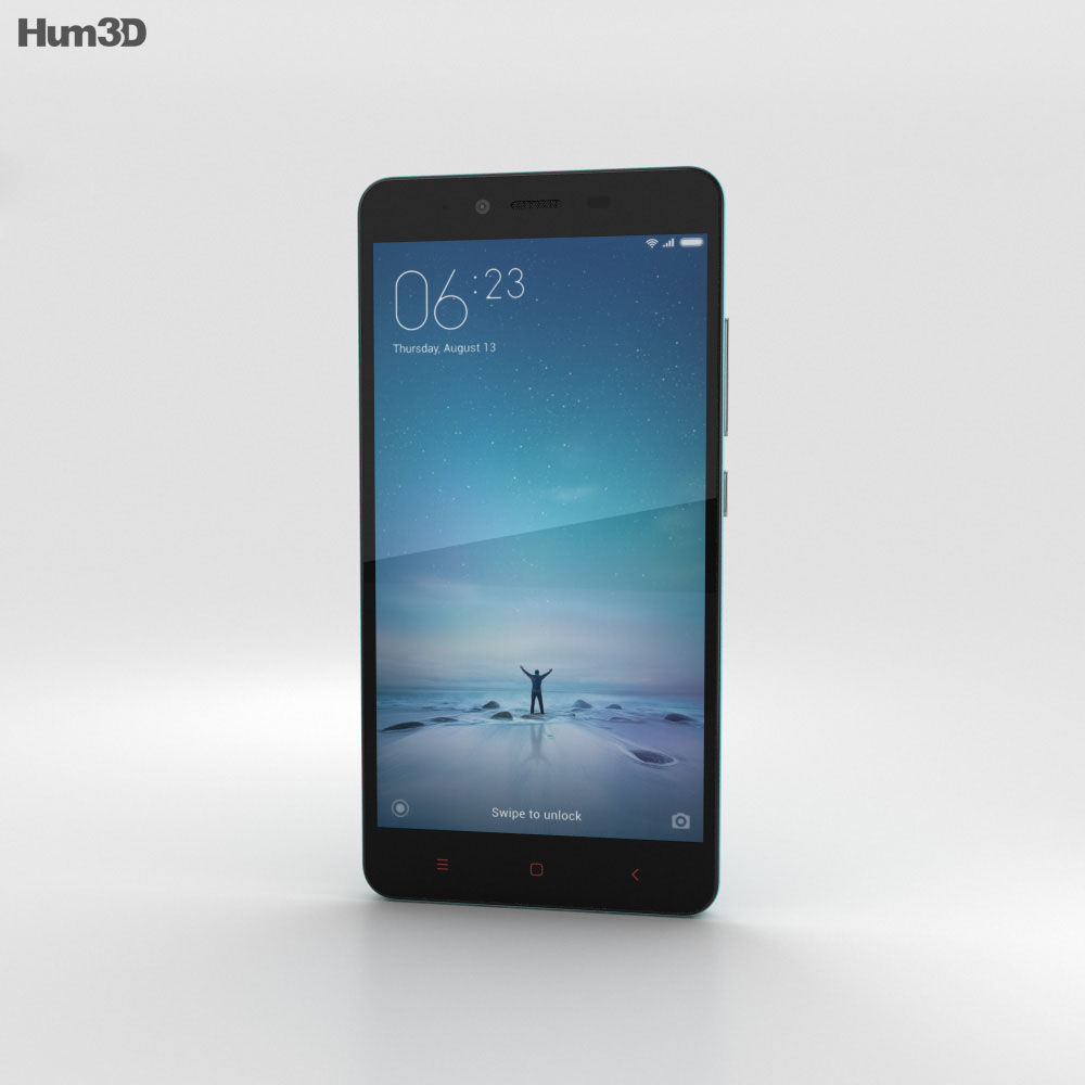 Xiaomi Redmi Note 2 Blue 3d model