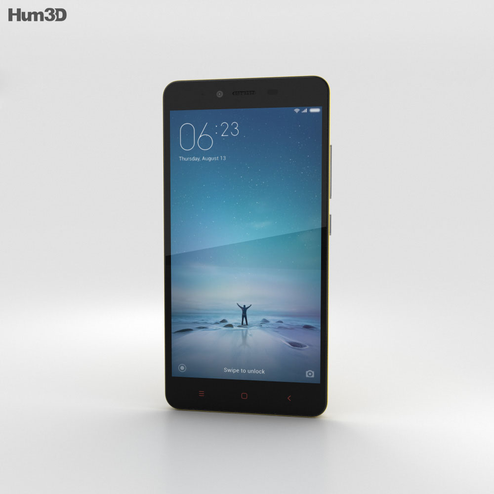 Xiaomi Redmi Note 2 Yellow 3d model