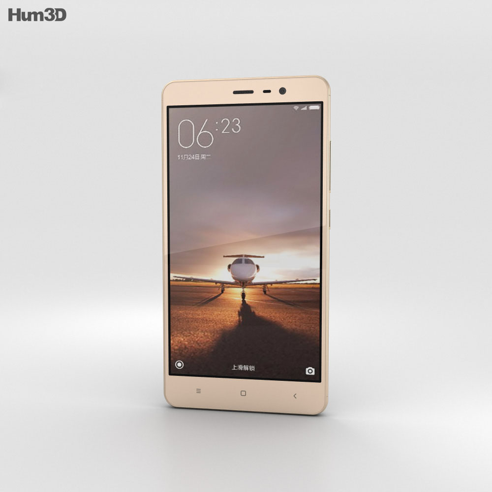 Xiaomi Redmi Note 3 Gold 3d model