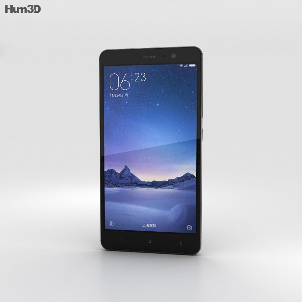 Xiaomi Redmi Note 3 Gray 3d model