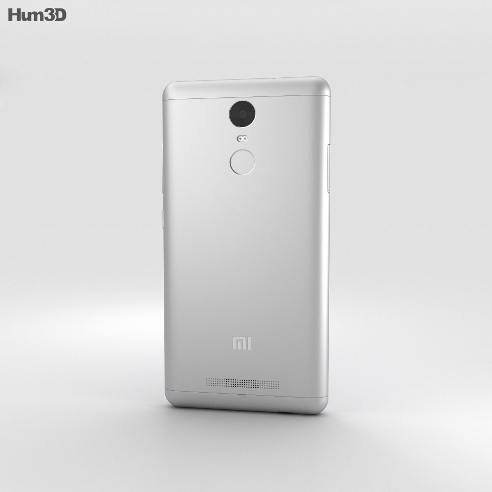 Xiaomi Redmi Note 3 Silver 3d model
