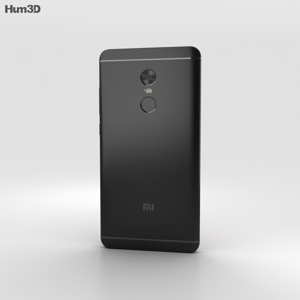 Xiaomi Redmi Note 4 Black 3d model