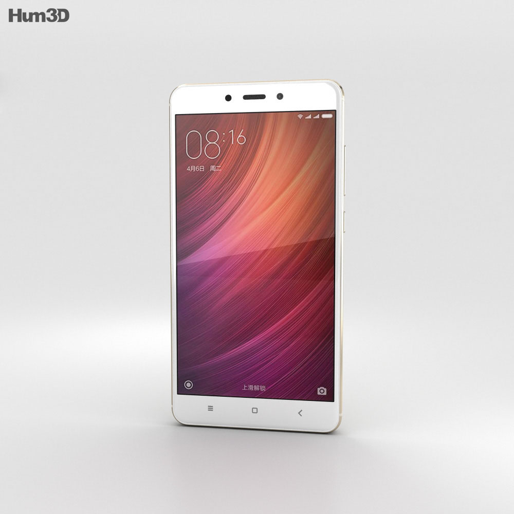 Xiaomi Redmi Note 4 Gold 3d model