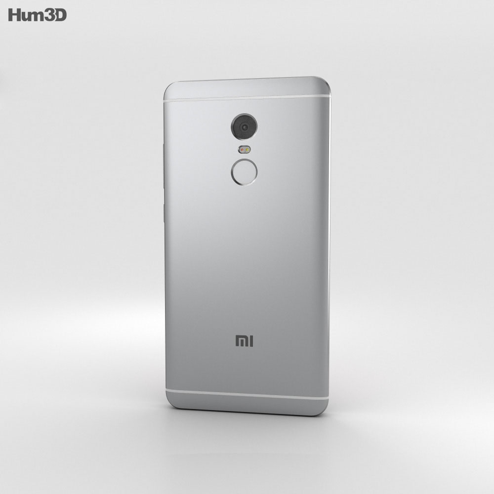 Xiaomi Redmi Note 4 Gray 3d model