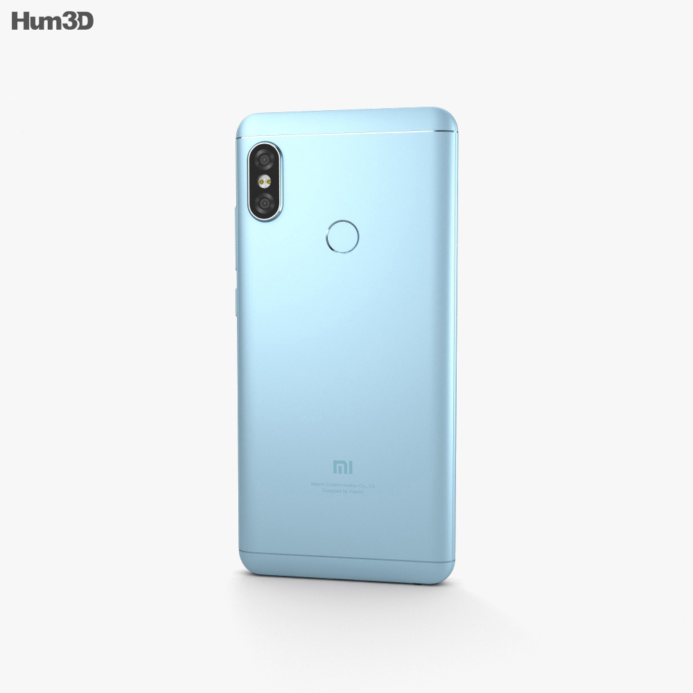 Xiaomi Redmi Note 5 Pro Lake Blue 3d model