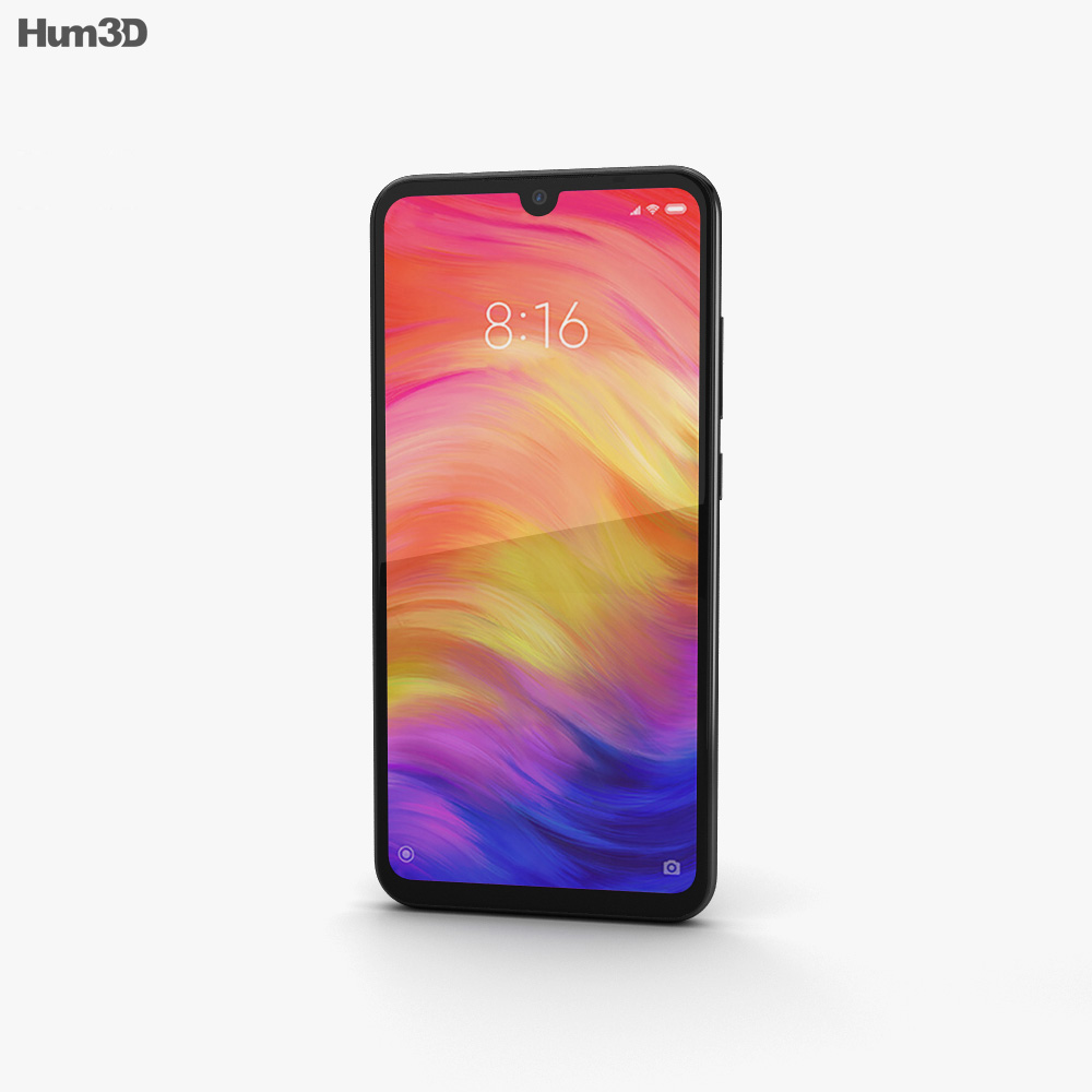 Xiaomi Redmi Note 7 Black 3d model