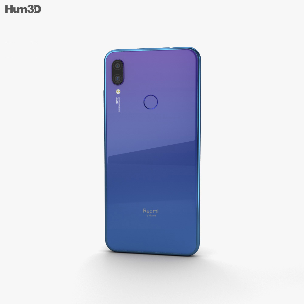 Xiaomi Redmi Note 7 Blue 3d model