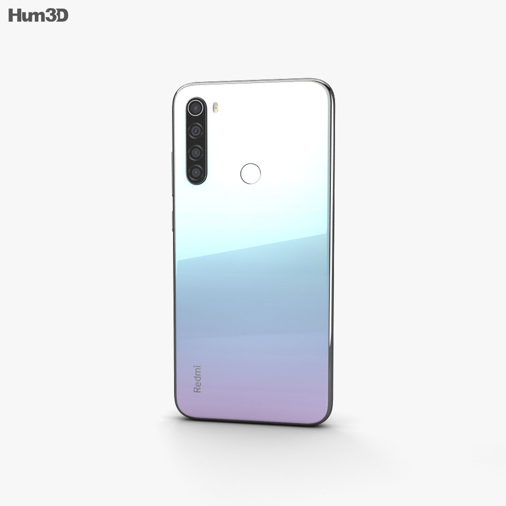 Xiaomi Redmi Note 8 Moonlight White 3d Model Electronics On Hum3d