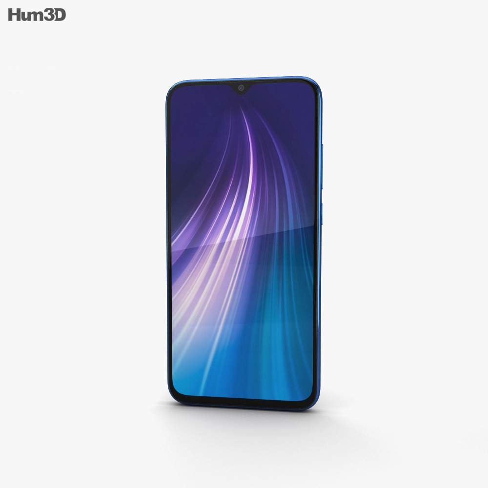 Xiaomi Redmi Note 8 Neptune Blue 3d model