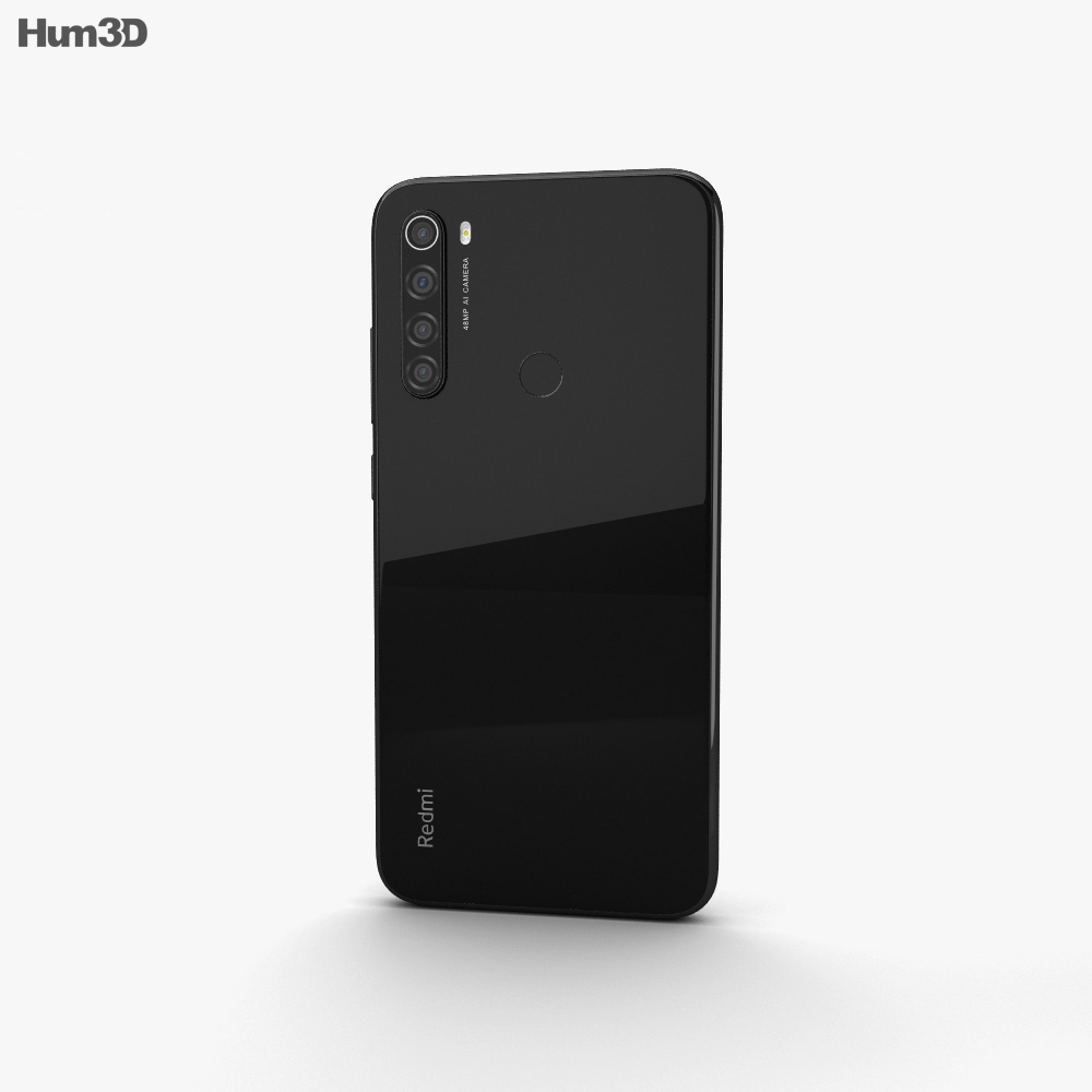 Xiaomi Redmi Note 8 Space Black 3d model