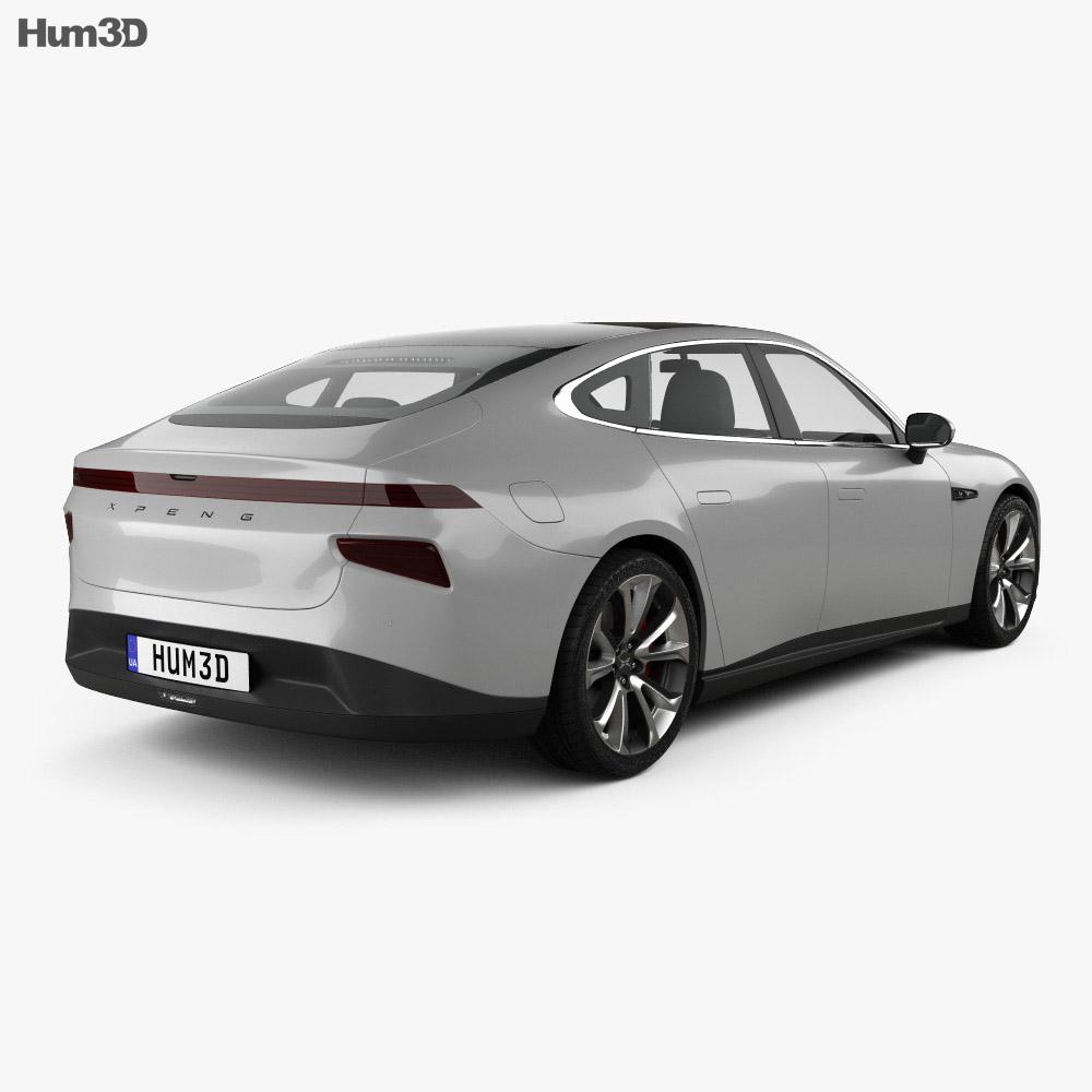 Xpeng P7 2020 3d model