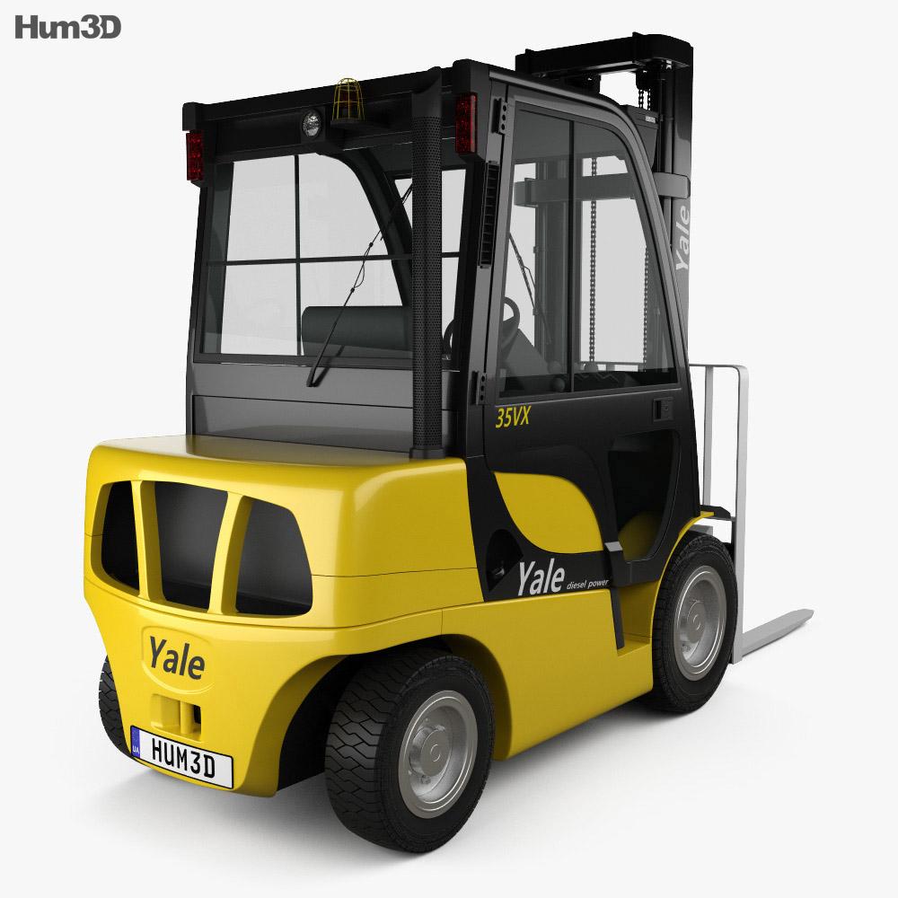 Yale GDP 35VX Forklift 2012 3d model