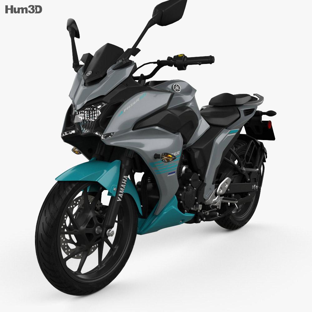 Yamaha Fazer 25 2018 3d model