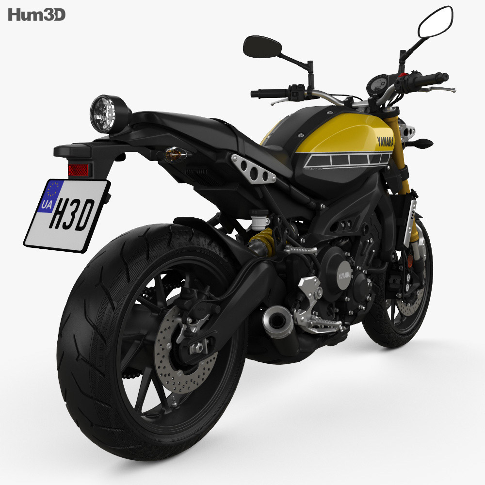Yamaha XSR900 2016 3d model back view