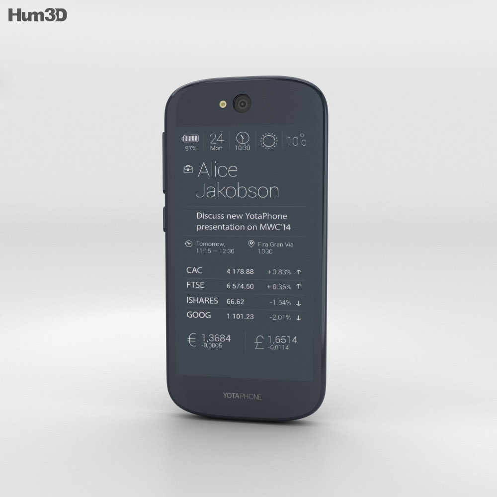 YotaPhone 2 Black 3d model