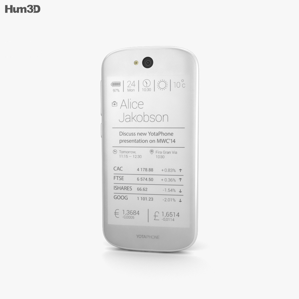 YotaPhone 2 White 3d model