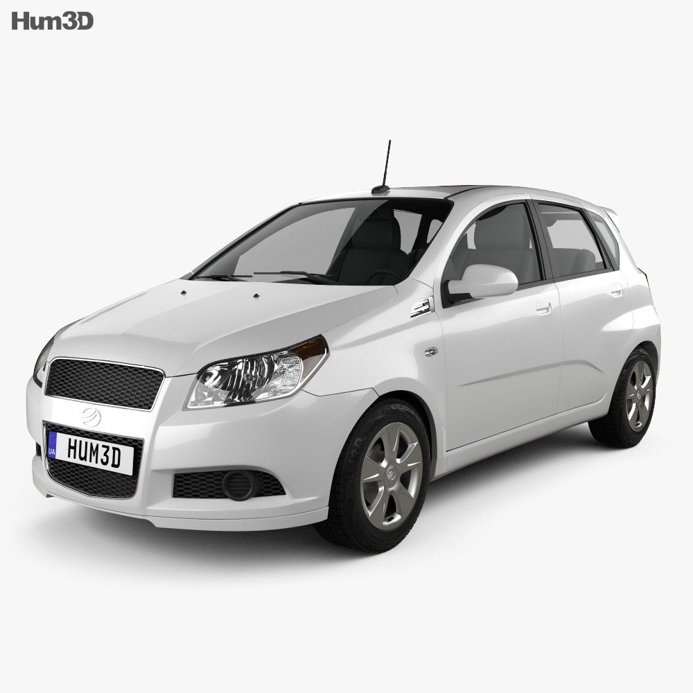ZAZ Vida Hatchback 2012 3d model