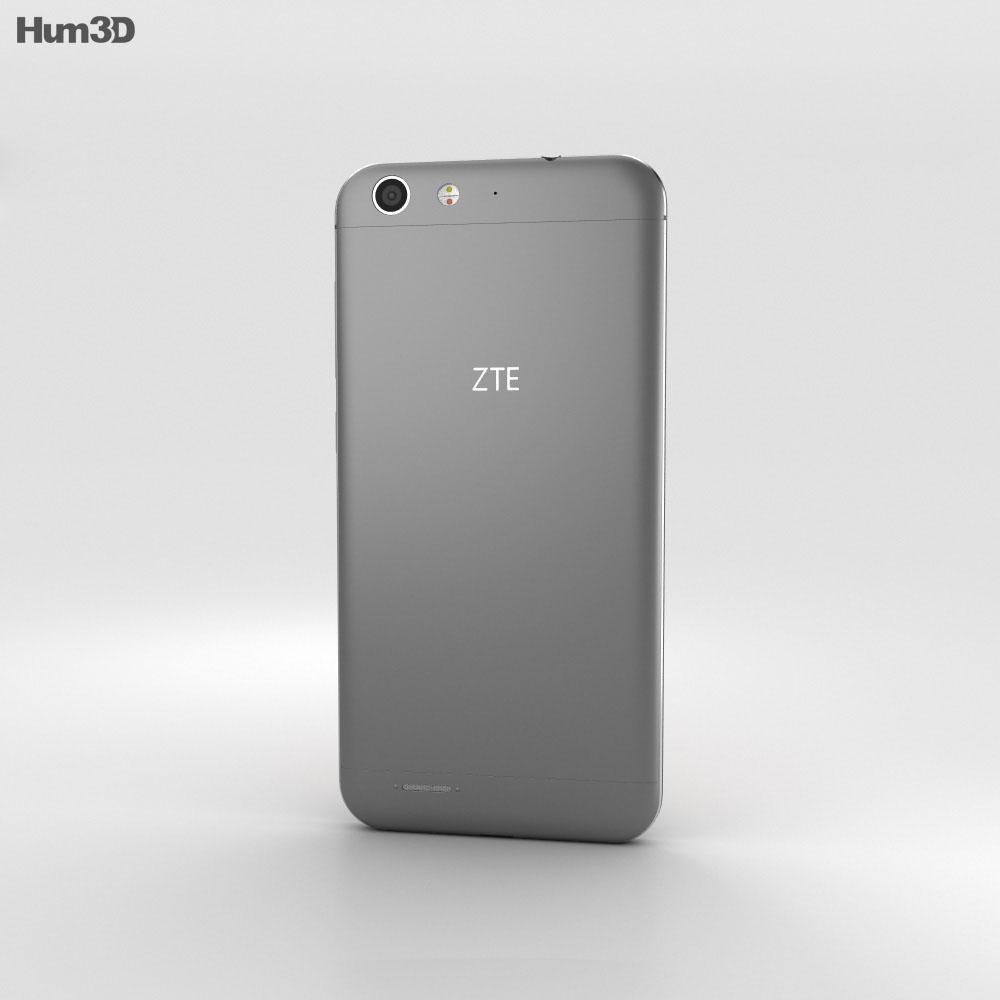 ZTE Blade D6 Gray 3d model