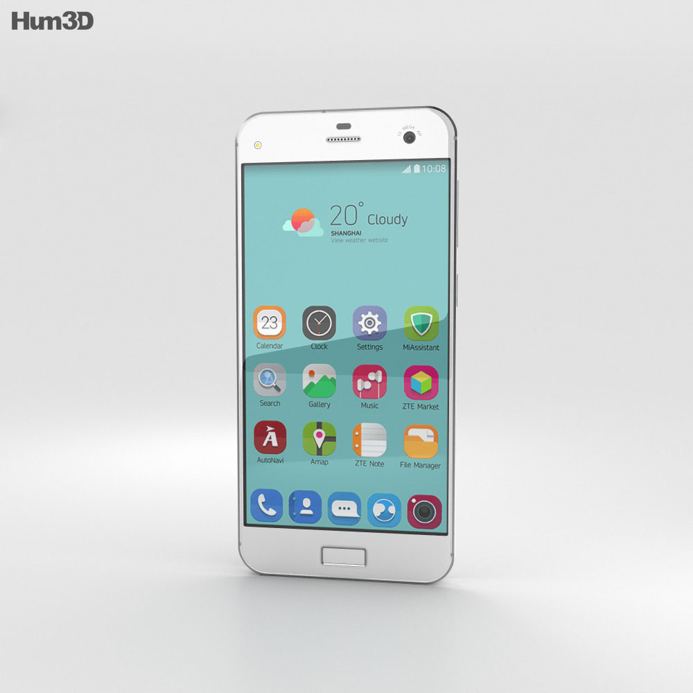 ZTE Blade S7 Diamond White 3d model