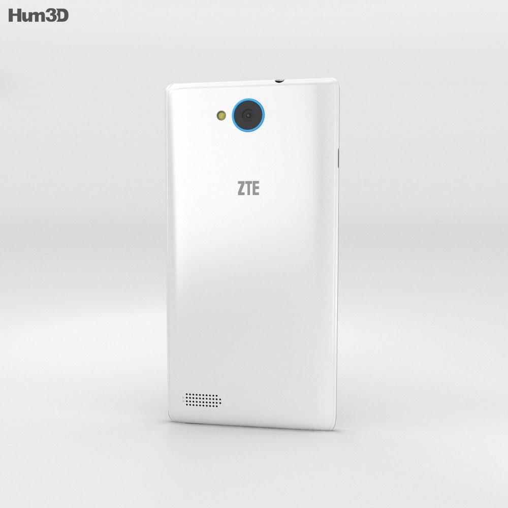 ZTE Kis 3 Max White 3d model
