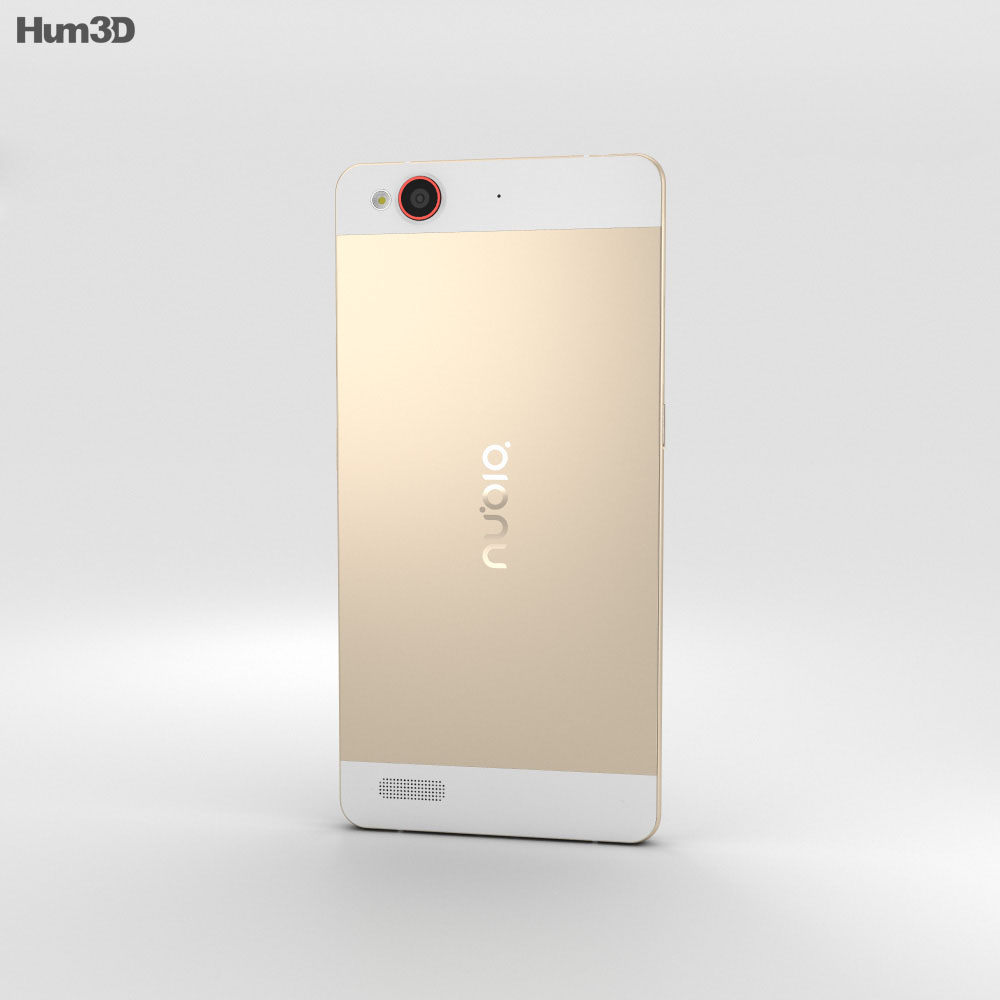 ZTE Nubia My Prague Gold 3d model