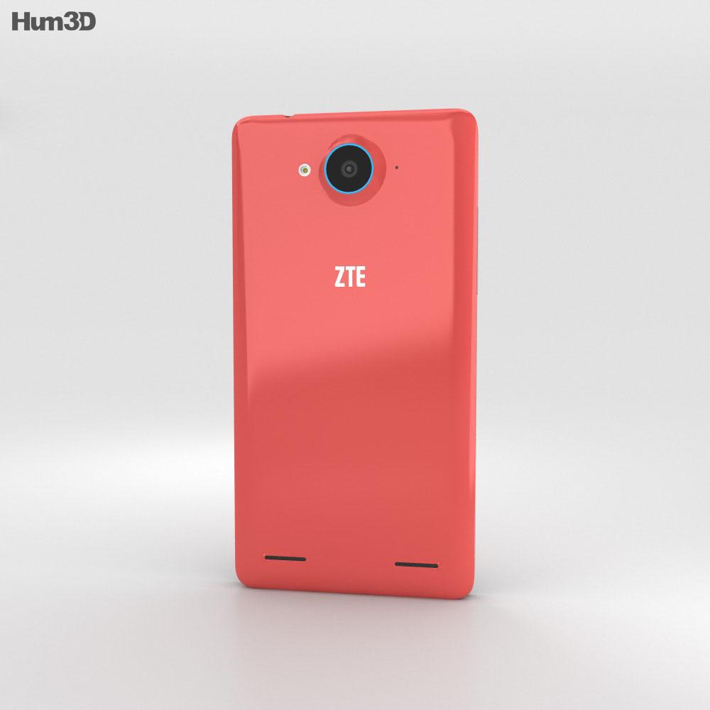ZTE Redbull V5 Red 3d model