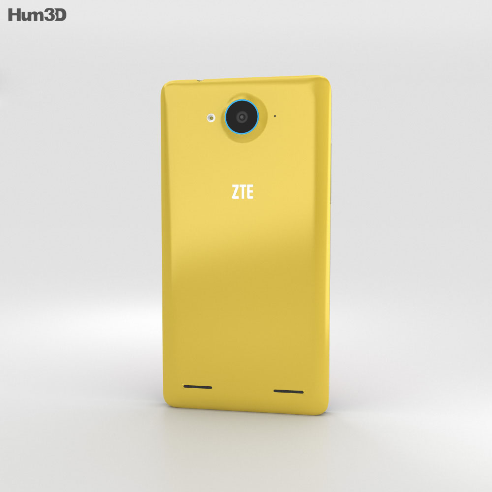 ZTE Redbull V5 Yellow 3d model