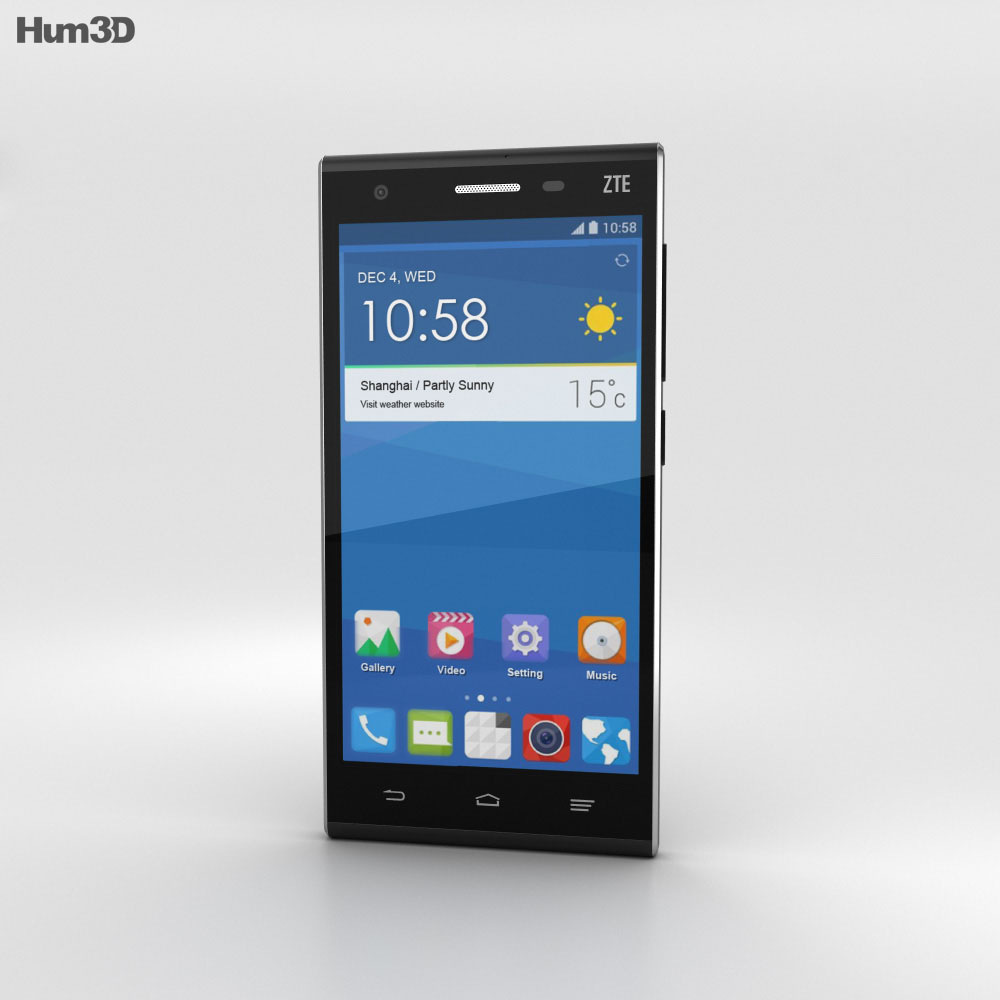ZTE Star II Black 3d model