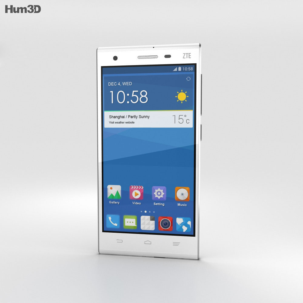 ZTE Star II White 3d model