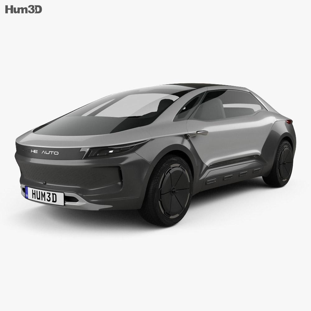 Zhiche Auto MPV 2016 3d model