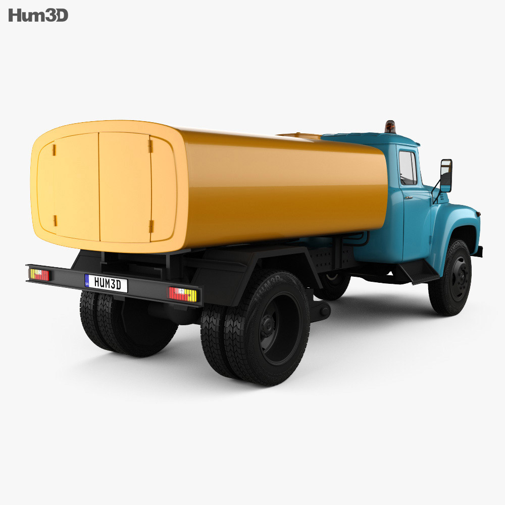 ZIL 130 Street Cleaner Truck 1964 3d model