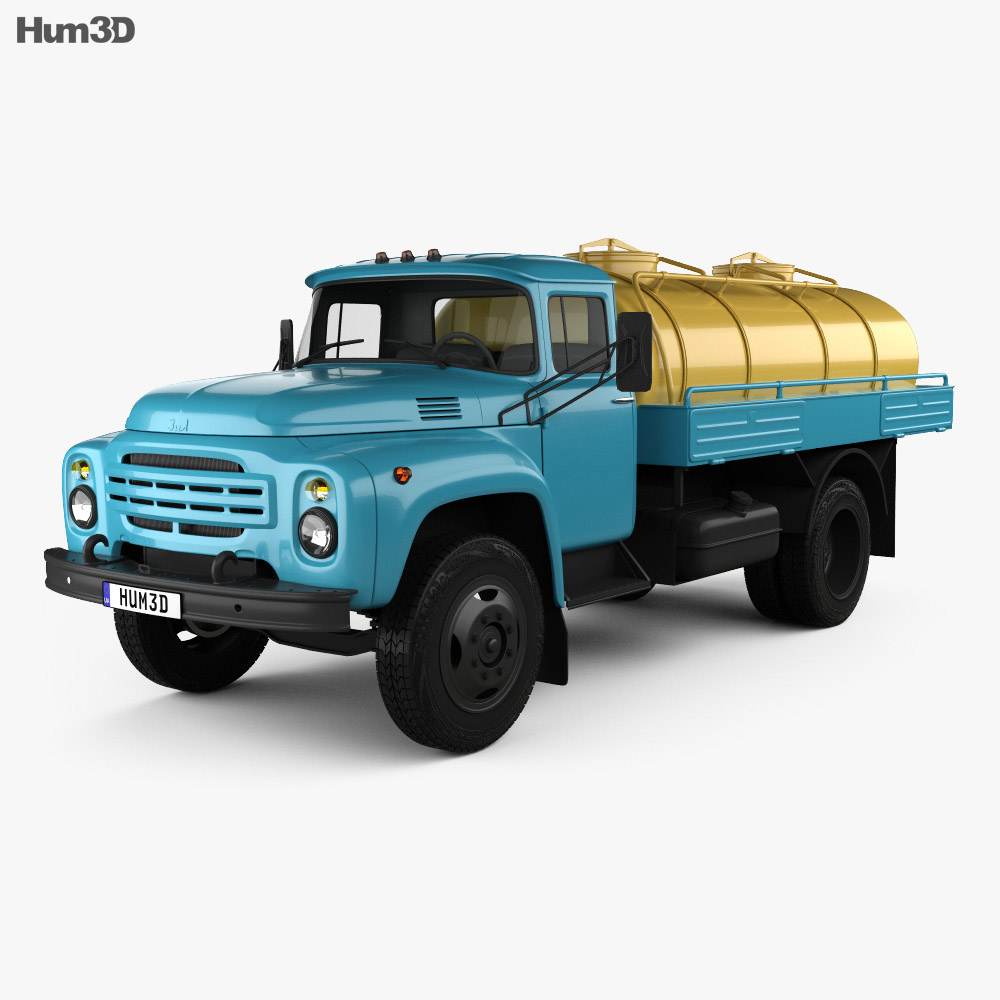 3D model of ZIL 130 Tanker Truck 1964