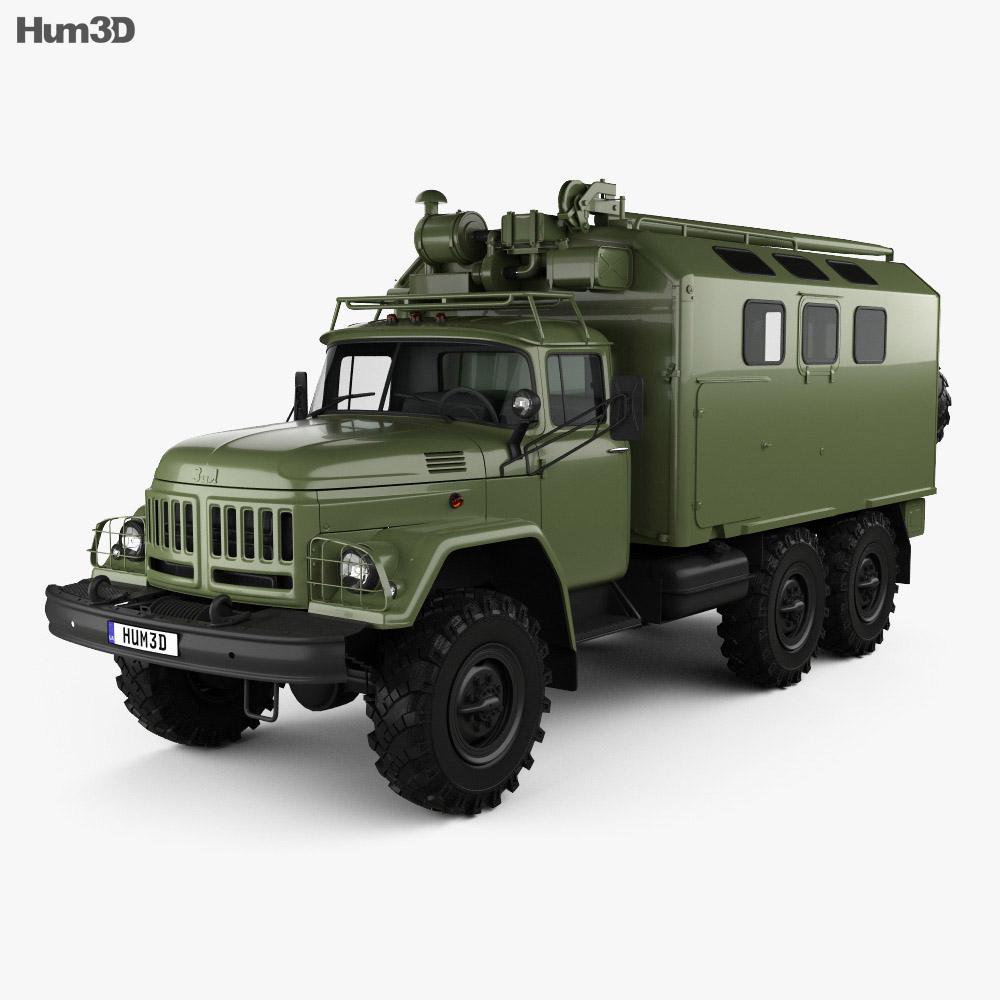 ZiL 131 Box Truck 1966 3d model