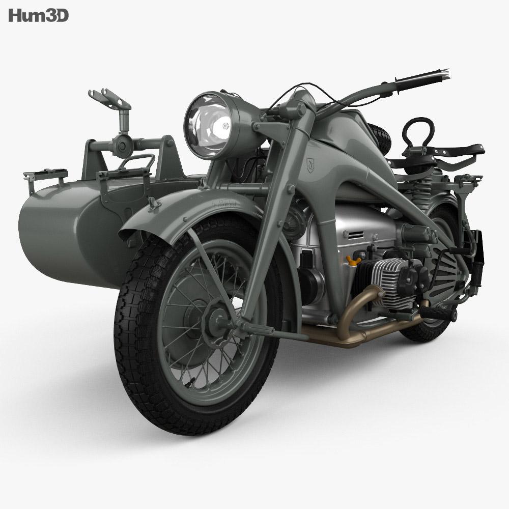 Zundapp KS750 1944 3d model